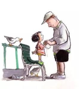 Dad helps daughter